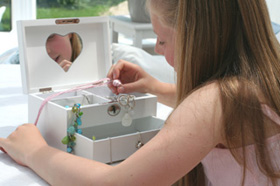 Childrens Wooden Jewellery boxes and Ring Boxes