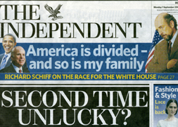 THE INDEPENDENT, cover