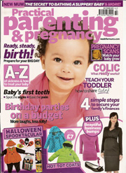 practical parenting and pregnancy Oct 2011 magazine cover
