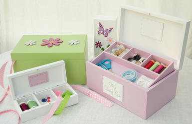 Our sewing boxes